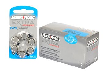 Rayovac Hearing Aid Batteries Size 675
